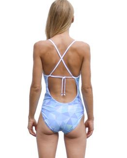 Annabelle One-Piece with Frill - Fractal (back)
