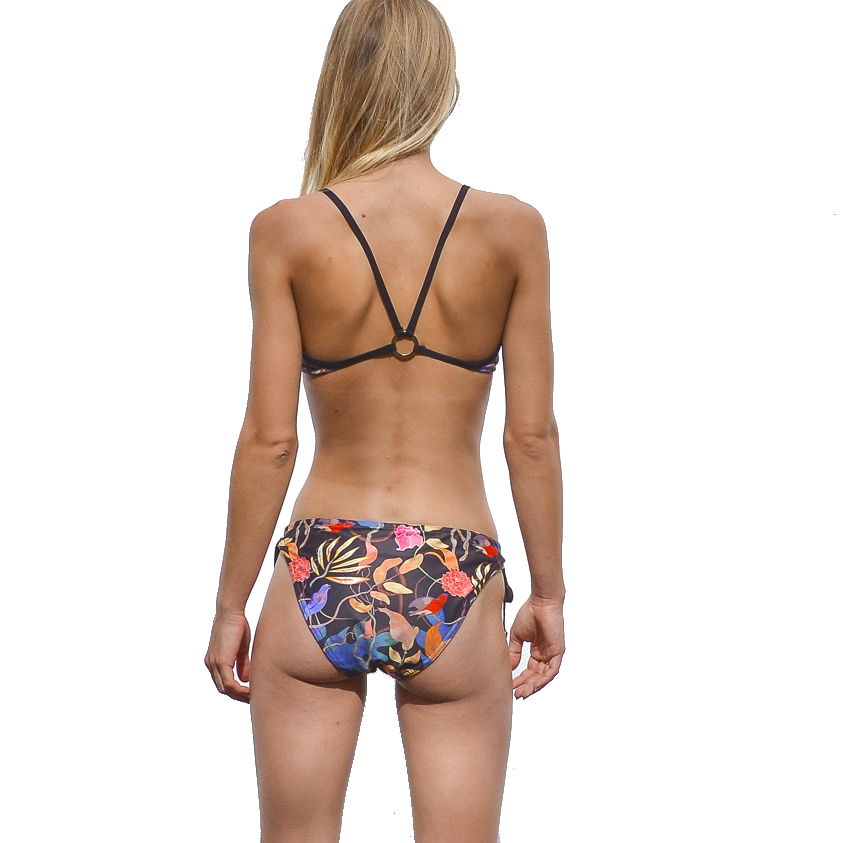 Chelsea Tie Front Bikini - Birds (back)