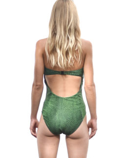 Eva Strapless One Piece - Snake (back)