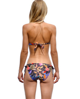 Michaela Strapless Bikini Top - Birds (back)