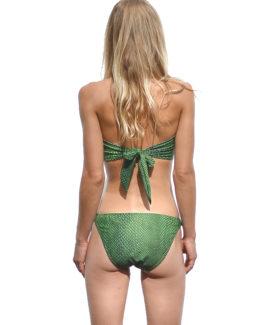 Michaela Strapless Bikini- Snake (back)